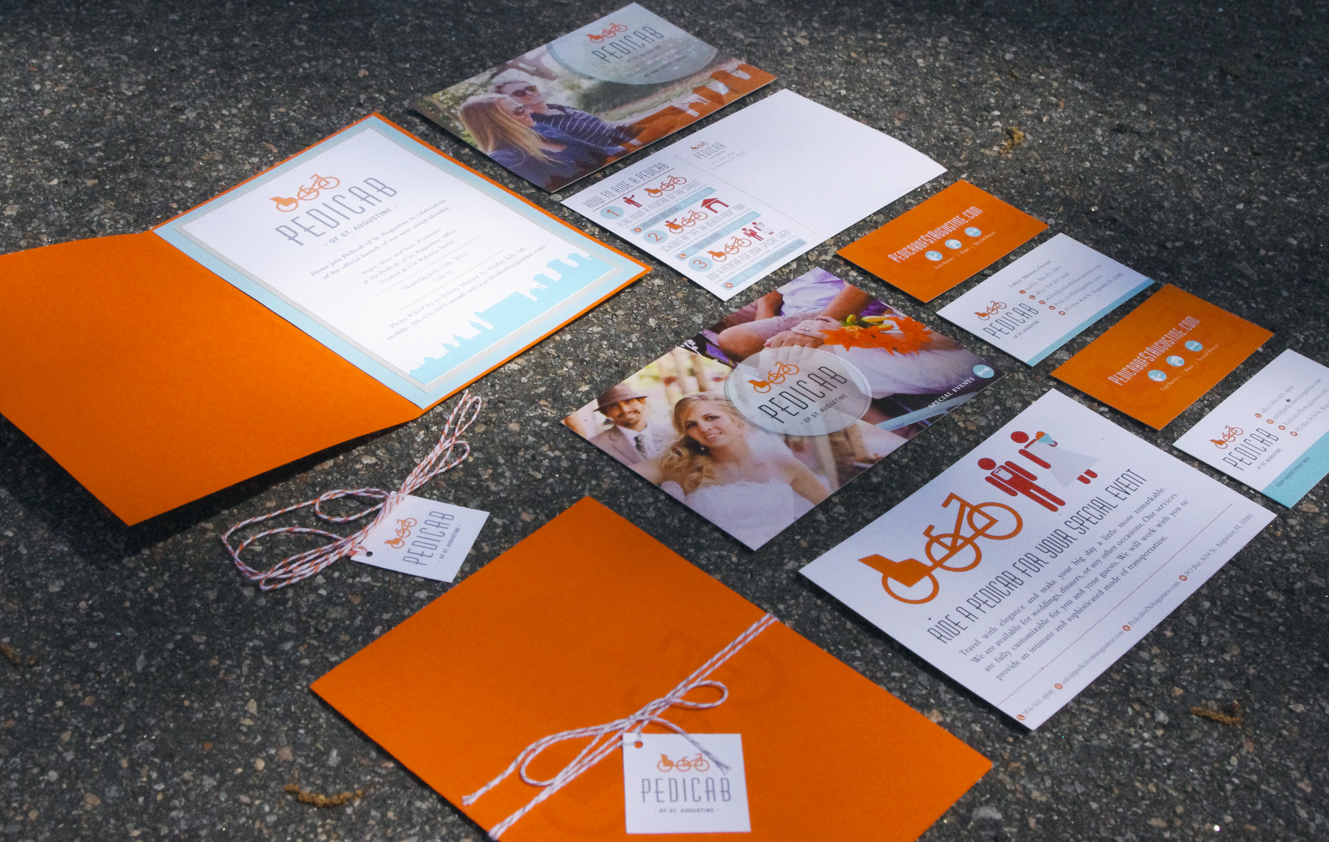Pedicab of St. Augustine Branding Stationery by Just Make Things