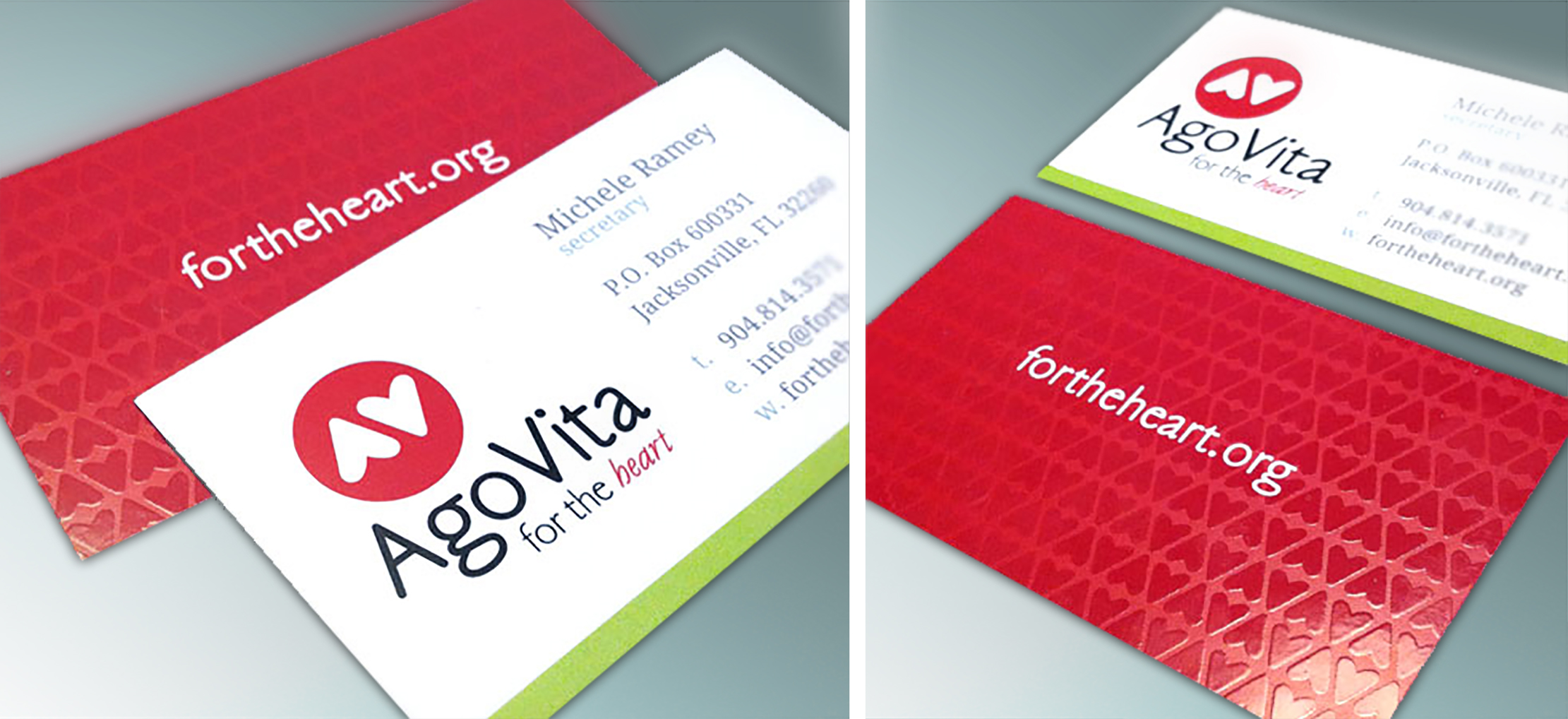 Ago Vita Business Card Design by Just Make Things