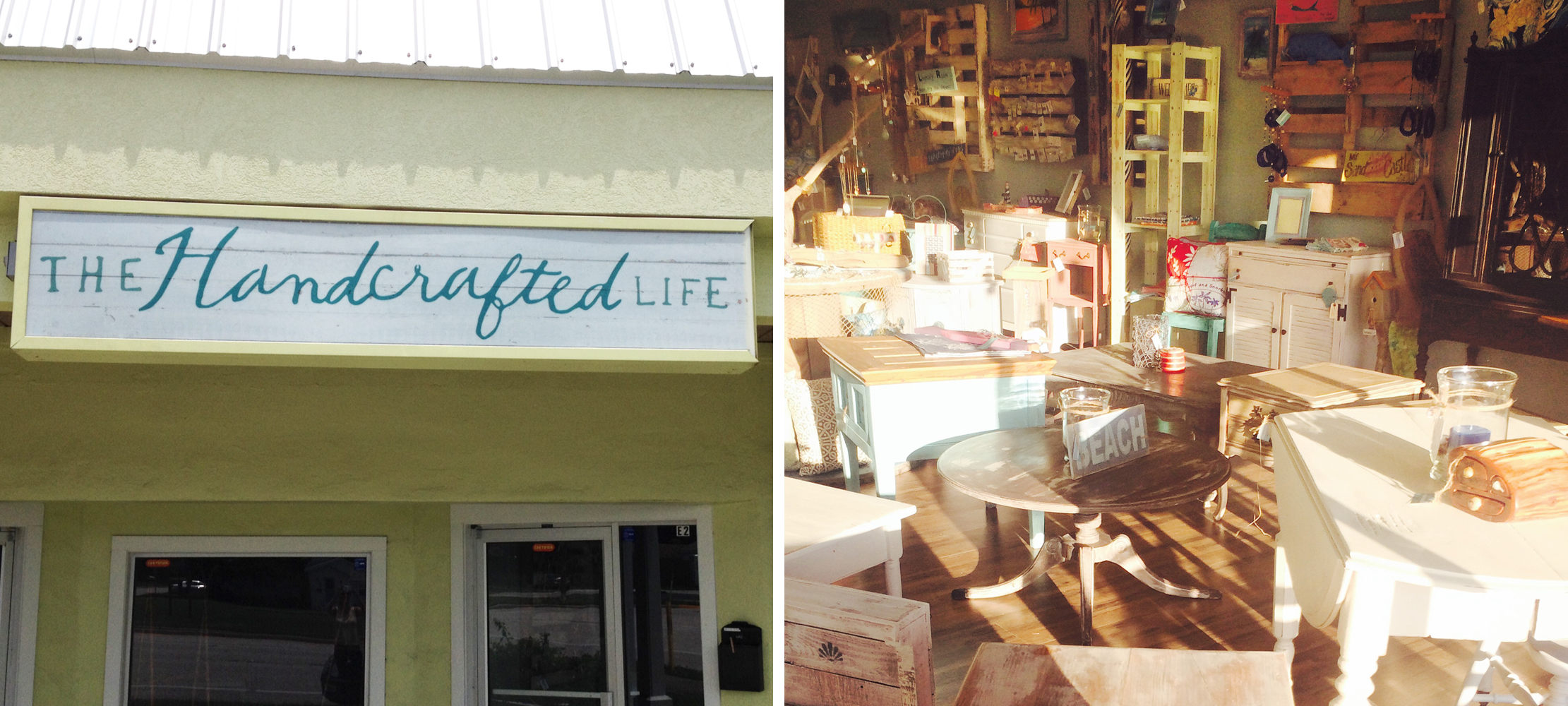 The Handcrafted Life Signage and Store Interior – Branding by Just Make Things