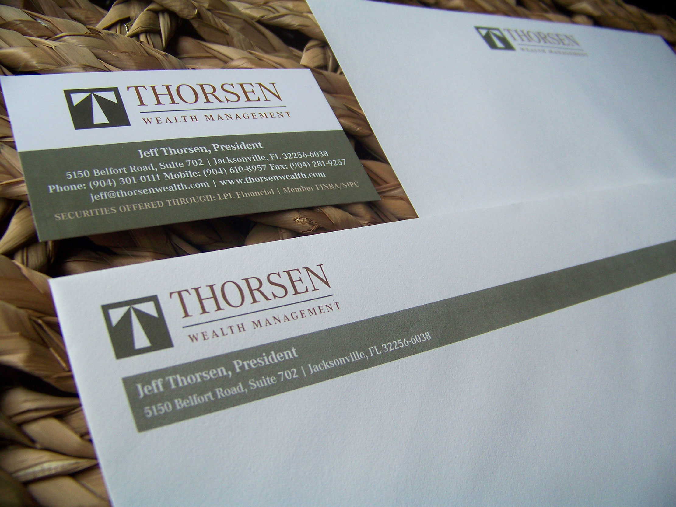 Thorsen Wealth Management Branding Stationery by Just Make Things