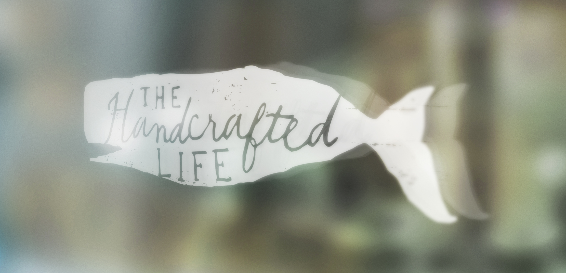 The Handcrafted Life Window Decal Logo Design by Just Make Things