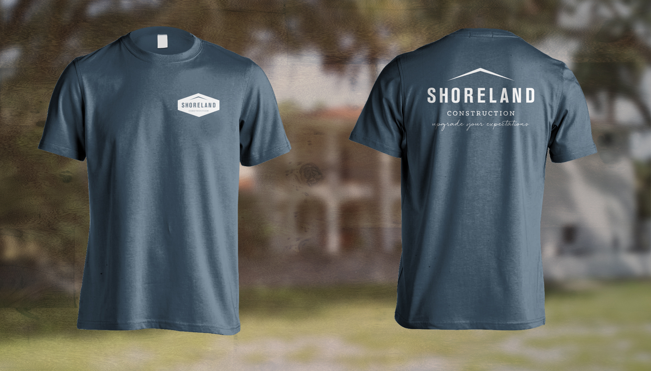 Shoreland Construction Branding Tee Shirts by Just Make Things