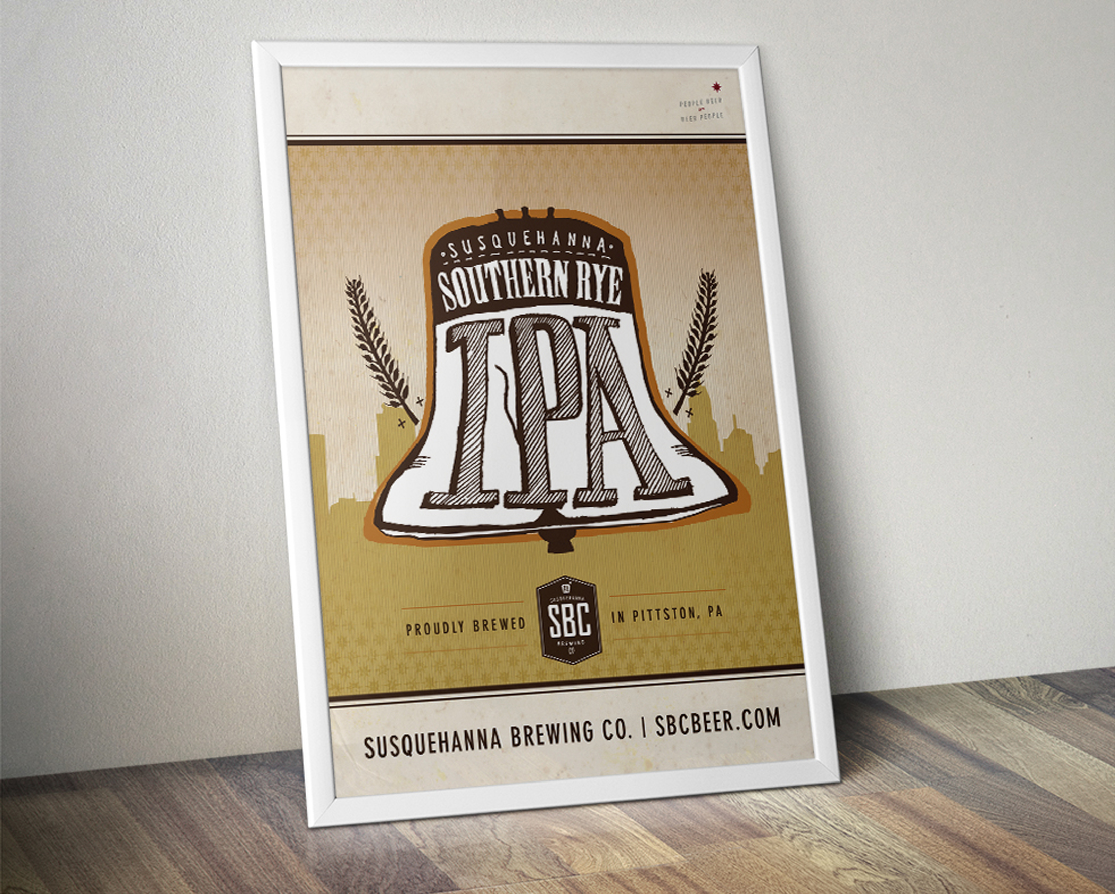 Susquehanna Brewing Co. Southern Rye IPA Poster Designed by Just Make Things