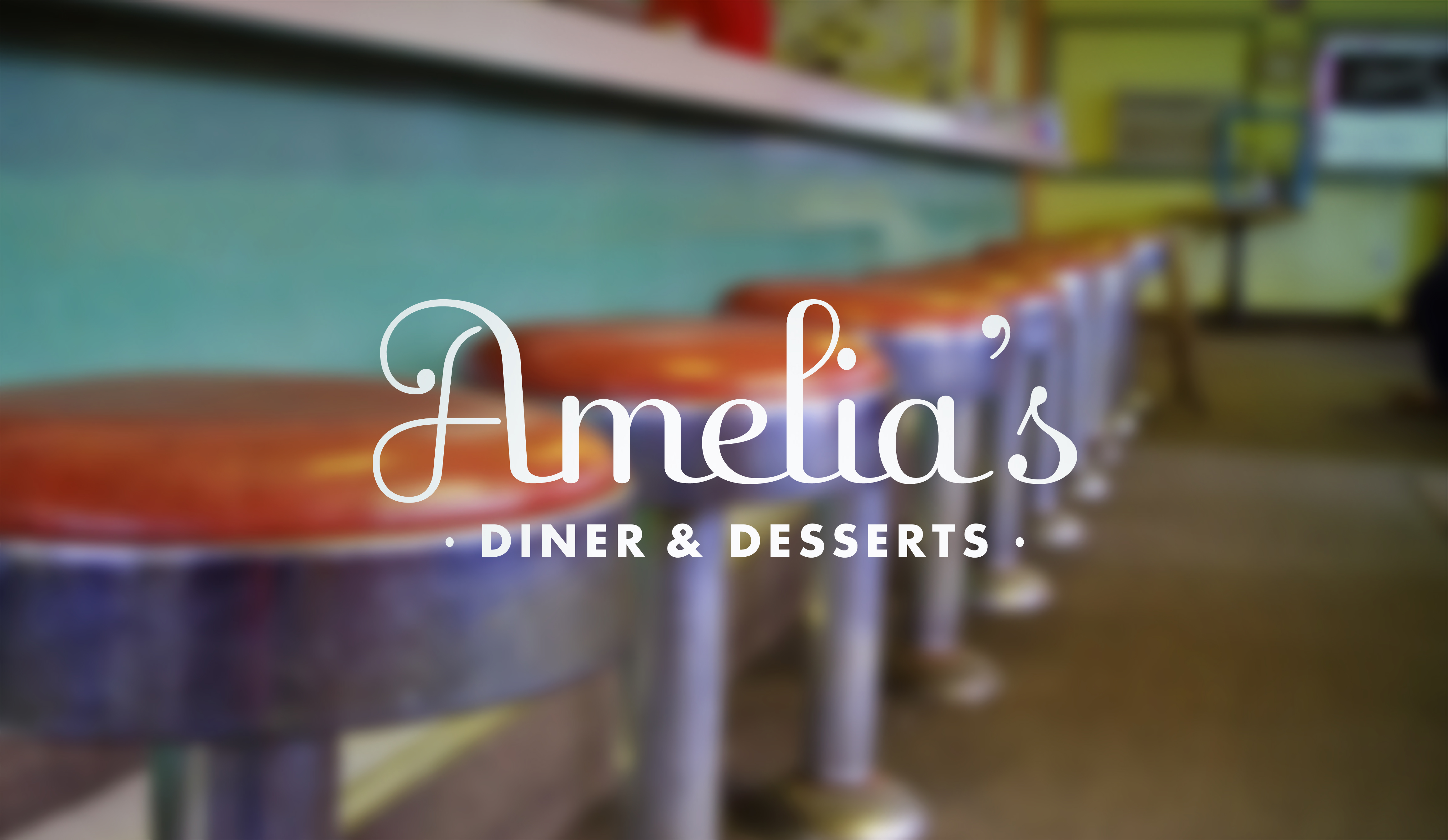 Brand Identity by Just Make Things – Amelia's Diner Menu