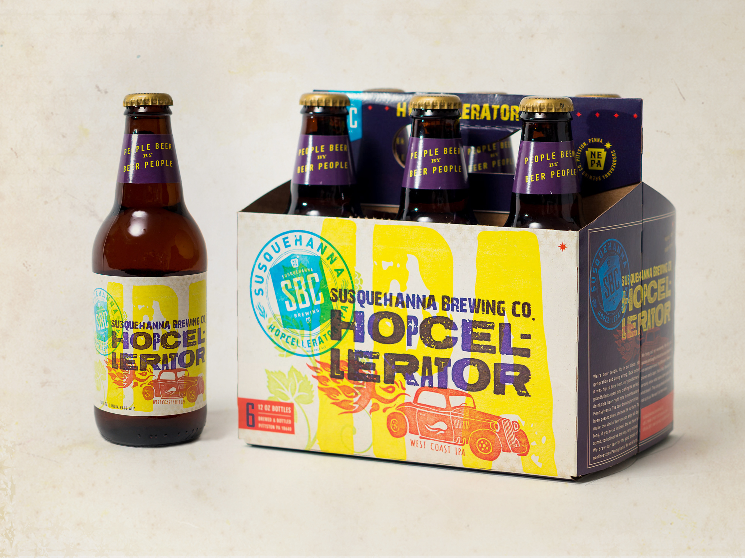 Susquehanna Brewing Co. Hopcellerator Packaging by Just Make Things